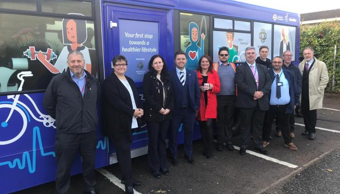 Wellbeing Bus launched at Metroline's West Perivale garage
