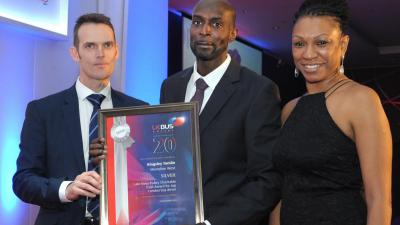 Well done Kingsley Tomlin, Silver winner,  Top London Bus Driver at the UK Bus Awards