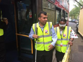 Holloway drivers in RNIB event
