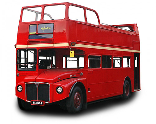 hire metroline's vintage red London Bus for corporate events